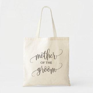Mother of the Groom,  calligraphy, Wedding Gift Tote Bag