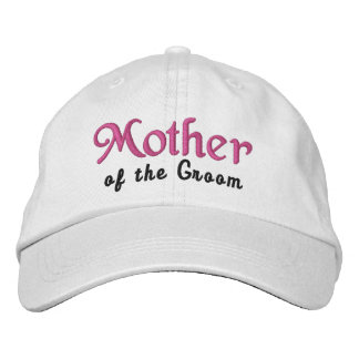 MOTHER of the GROOM Custom Name WHITE B4 Embroidered Cap