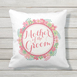 Mother of the Groom Elegant Floral Wedding Pillow