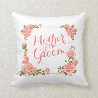 Mother of the Groom Elegant Wreath Wedding Pillow