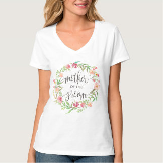 mother of the groom floral wreath -1 T-Shirt