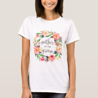 mother of the groom floral wreath -3 T-Shirt