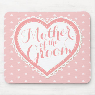 Mother of the Groom Heart Frame Wedding | Mousepad