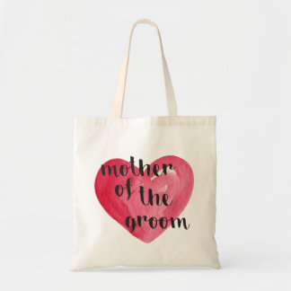 Mother of the Groom Heart Tote