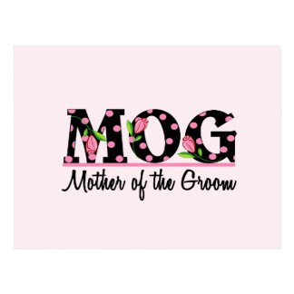 Mother of the Groom MOG Tulip Lettering Post Cards