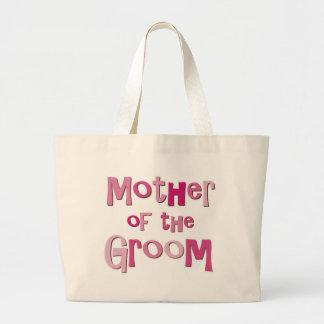 Mother of the Groom Pink Brown Jumbo Tote Bag