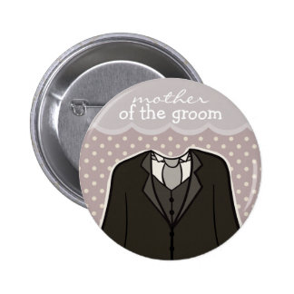 Mother of the Groom // PURPLE 6 Cm Round Badge