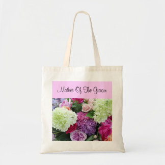 Mother of the Groom Rose Hydrangea Wedding Flowers Budget Tote Bag