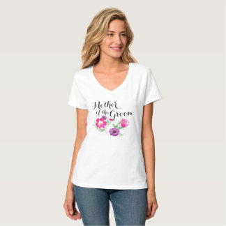 Mother of the Groom Watercolor Flowers T T-Shirt