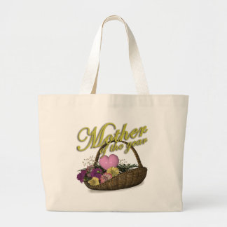 Mother of the Year Flower Basket Mother s Day Gift Canvas Bags
