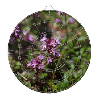 Mother of thyme flowers (Thymus praecox) Dartboard With Darts