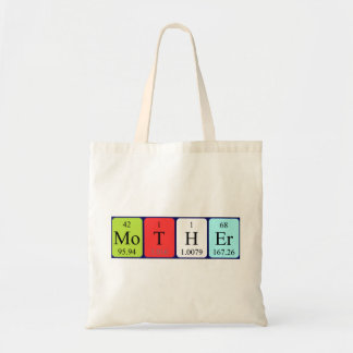 Mother periodic table name tote bag