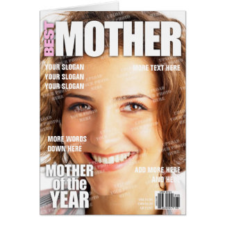 Mother Personalised Magazine Cover Card