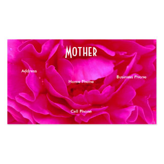 Mother Pink Rose Profile Card Business Card