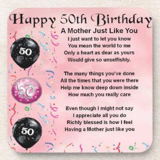 Mother Poem  -  50th Birthday Coasters