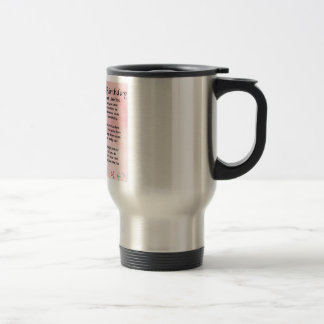 Mother Poem  -  50th Birthday Stainless Steel Travel Mug