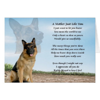 Mother poem - German Shepherd Dog Card