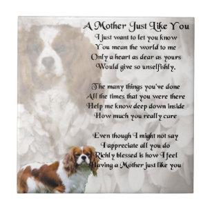 Mother Poem - King Charles Spaniel Design Ceramic Tile