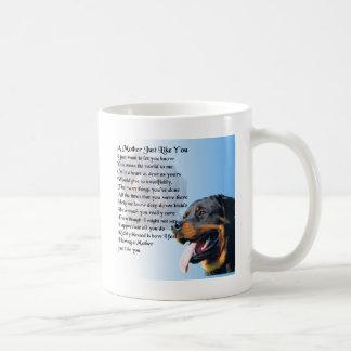 Mother Poem - Rottweiler Design Coffee Mug