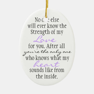 Mother Quote Ceramic Oval Decoration