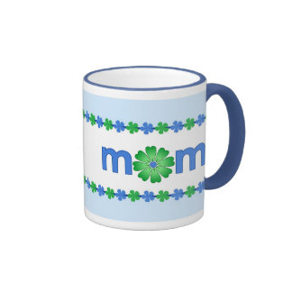 Mother's Day Blue Spring Flowers Mug