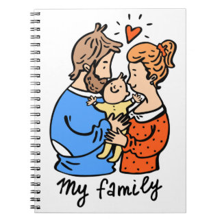 Mother's Day diary cartoon notebook