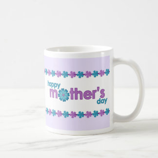 Mother's Day Purple Spring Flowers Mug