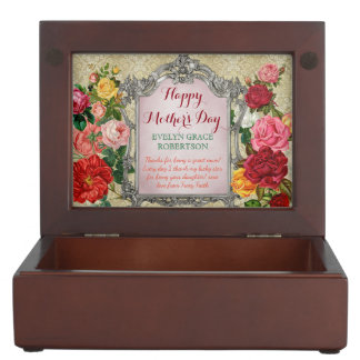 Mother's Day Sweet Roses Fancy Baroque Photo Frame Memory Box