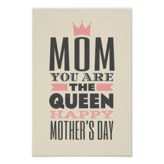 Mother s Day Vintage Style Text Design Print