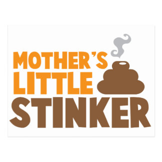 Mother s little Stinker with poo stink smells Postcard