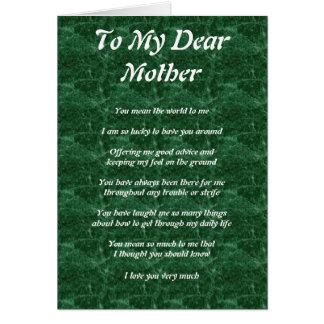 Mother s Poem Card
