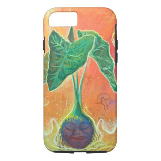 Mother Taro on Orange Background iPhone 7 Case