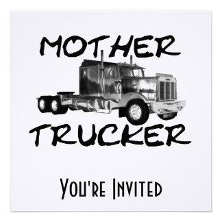 MOTHER TRUCKER - BLACK WHITE CUSTOM INVITE
