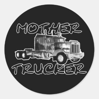 MOTHER TRUCKER - BLACK & WHITE STICKERS