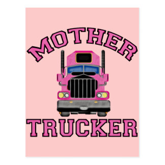 Mother Trucker Postcard