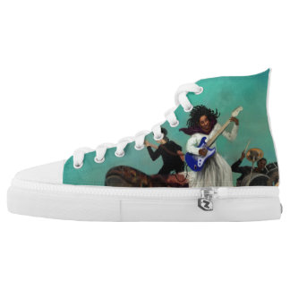Mother Turtle Hi Tops Printed Shoes