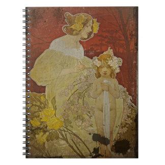 Mother Weaving Flowers in Hair Notebook