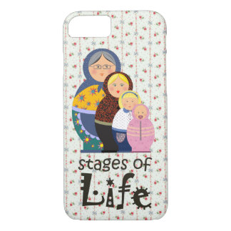 Mother Woman Ageing Life Funny Matryoshka Floral iPhone 7 Case