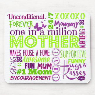 Mother Word Art Mouse Pad