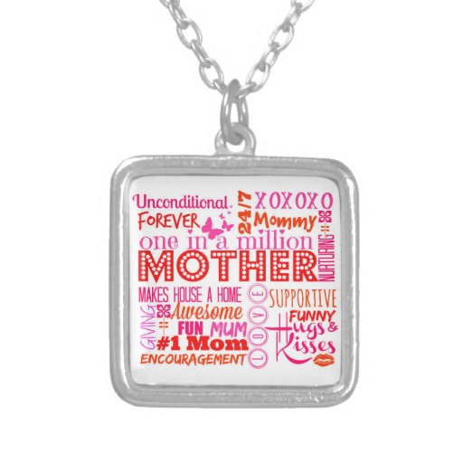 Mother Word Art Pendant Necklace