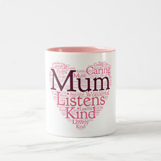 Mother Word Art Two-toned Mug