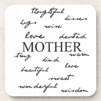Mother Words Drink Coasters