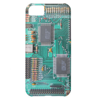 Motherboard, circuit board photo iPhone 5C case