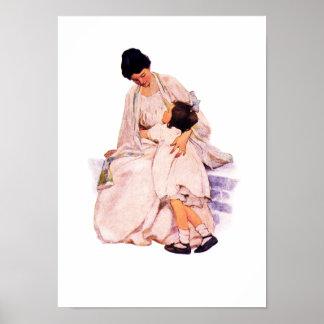 """""""Motherhood""""  by Jessie Willcox Smith Poster"""