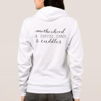 Motherhood Is... Ladies Full Zip Hoodie