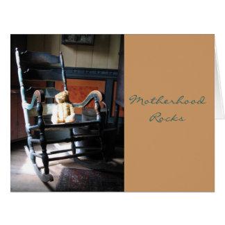 Motherhood rocks... card