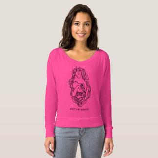 Motherhood Women's Bella+Canvas Flowy Off Shoulder T-Shirt