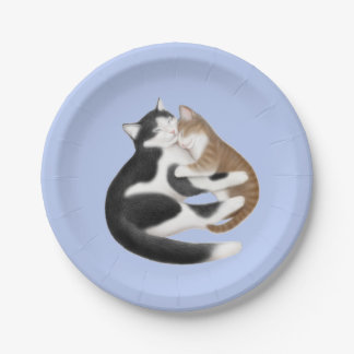 Motherly Love Cats Paper Plates 7 Inch Paper Plate