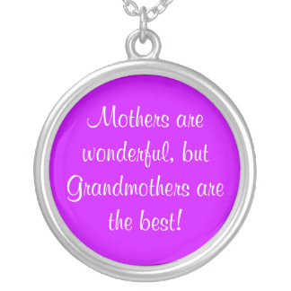 Mothers are wonderful, round pendant necklace