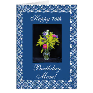 Mother's birthday flower vase card